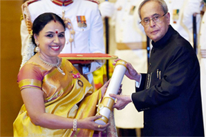 Sudha Ragunathan is the recepient of the Padma Bhushan for the year 2015 announced on 26 January 2015