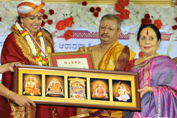 Sudha was awarded the Bharathi Thyagaraja Samman 2015 by the Sadguru Sri Thyagabrahma Aradhana Kainkarya Trust, in the august presence of His Holinesses of Sri Sringeri Sharada Peetham